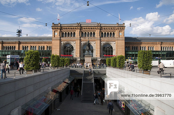 Hauptbahnhof  Hannover  Niedersachsen  Deutschland