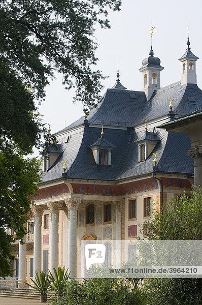 Schloss Pillnitz  Wasserpalais  Dresden  Sachsen  Deutschland