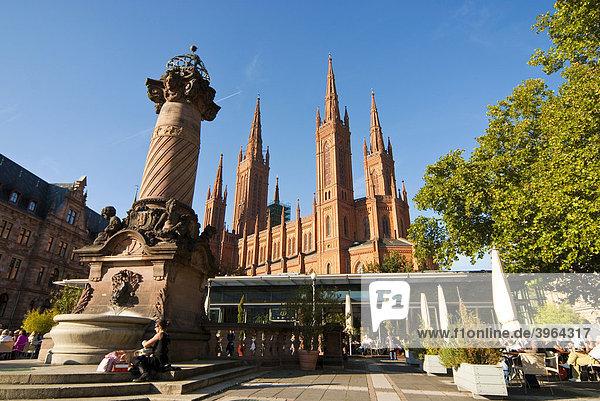 Kaminbauer Wiesbaden deutschland hessen kamin der marktkirche marktkirche wiesbaden