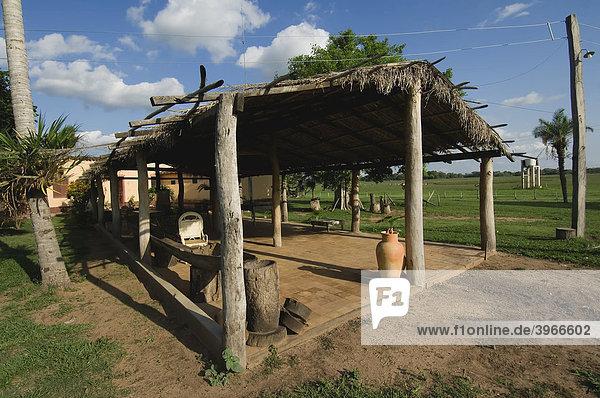 Fazenda Caranda  Bauernhof  Pantanal  UNESCO Welterbe und Biosphärenreservat  Mato Grosso  Brasilien