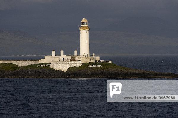 Eilian Musdile Leuchtturm  Lismore Insel  Schottland  Großbritannien  Europa