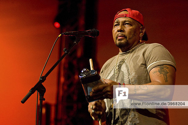 US band The Neville Brothers  live at the Blue Balls Festival in the Lucerne hall of the KKL Lucerne  Switzerland