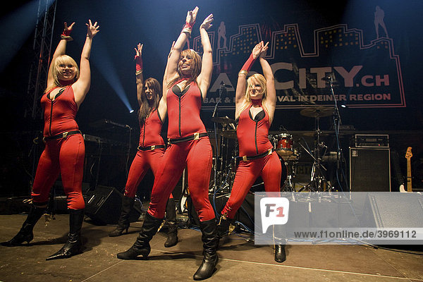 Swiss dance group Matchless Dancers live at the Barcity in Huttwil  Switzerland