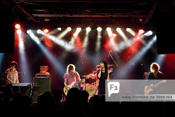 The German singer Jennifer Weist aka Jennifer Rostock live with band in the Schueuer Lucerne  Switzerland  Europe