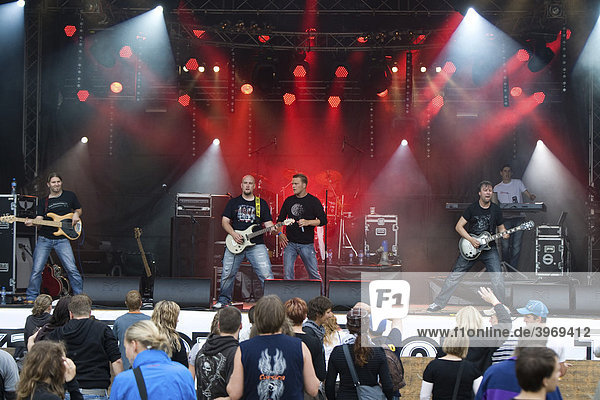 The Swiss band Aextra live at the Openquer festival in Zell  Switzerland