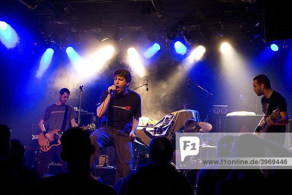 Swiss trash metal band Crash League live at the Schueuer  Lucerne  Switzerland
