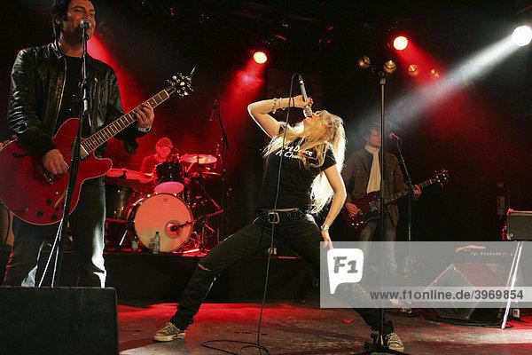 German pop band Klee performing live in the Schueuer concert house  Lucerne  Switzerland  Europe