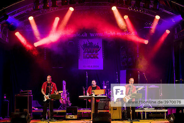Swiss schlager band Calmaro Band performing live at the Autlook Festival in Schenkon  Lucerne  Switzerland  Europe