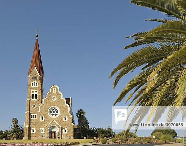 Christuskirche in Windhoek  Namibia  Afrika