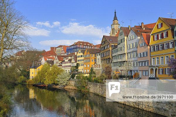 Neckarfront  Tübingen  Baden-Württemberg  Deutschland  Europa