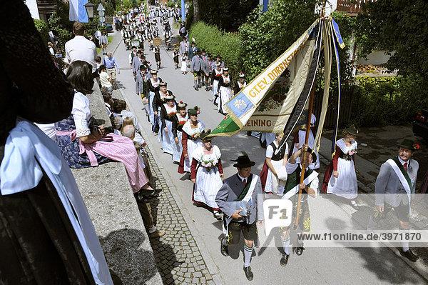 Gautrachtenfest in Irschenhausen  Oberbayern  Bayern  Deutschland