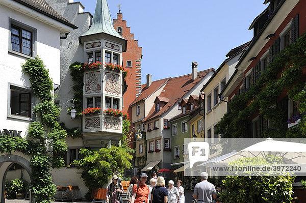 Innenstadt von Meersburg  Bodensee  Baden-Würtemberg  Deutschland  Europa