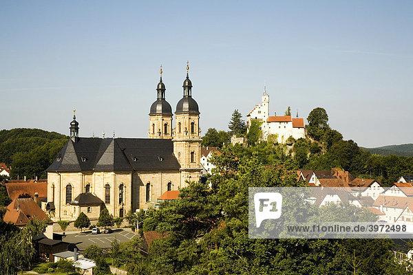 Burg und Basilika in Gössweinstein  Fränkische Schweiz  Oberfranken  Bayern  Deutschland  Europa