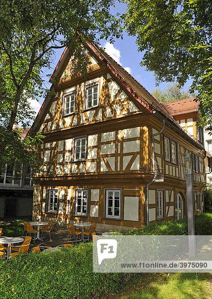 Spitalmühle im Spitalhof, Spital zum Heiligen Geist, Schwäbisch Gmünd, Baden-Württemberg, Deutschland, Europa