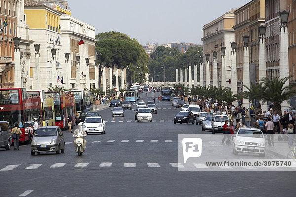 Via della Conciliazione  Rom  Latium  Italien  Europa