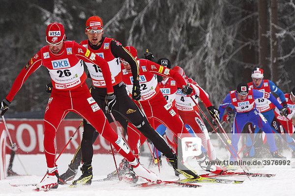 Björn Kircheisen  deutsche Herren Nationalmannschaft  an 2. Stelle  Nordische Kombination Weltcup  Oberhof 2009  Thüringen  Deutschland  Europa