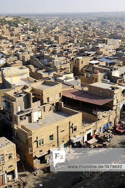 Overlooking the city of Jaisalmer  Rajasthan  North India  India  South Asia  Asia