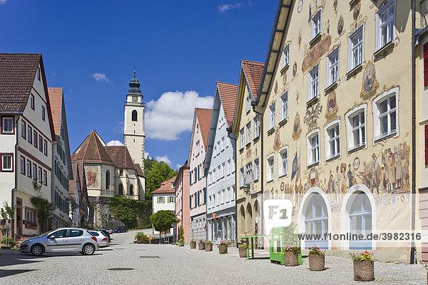 Marktplatz mit Rathaus und Stiftskirche  Horb am Neckar  Baden-Württemberg  Deutschland  Europa