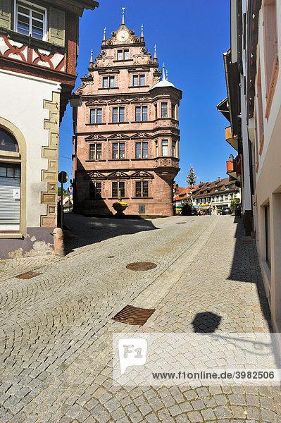 Altes Rathaus  Gernsbach  Murgtal  Schwarzwald  Baden-Württemberg  Deutschland  Europa