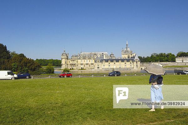 Schloss Chantilly  Chateau de Chantilly  Chantilly  Region Picardie  Frankreich  Europa