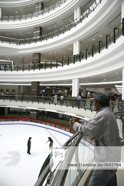 Ice skating rink in the City Centre Mall  shopping centre  Doha  Katar