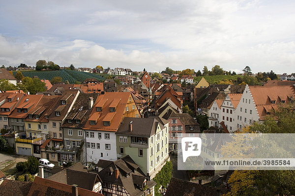 Blick auf die Oberstadt von Meersburg  Bodensee  Baden-Württemberg  Deutschland