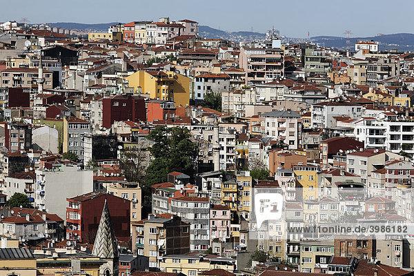 Blick über die Altstadt von Beyoglu  Istanbul  Türkei