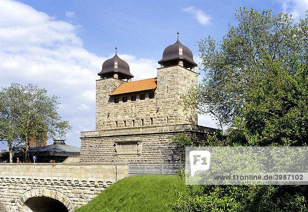 Alte Schachtschleuse von 1914  LWL-Industriemuseum  Schleusenpark  Henrichenburg  Waltrop-Oberwiese  Ruhrgebiet  Nordrhein-Westfalen  Deutschland  Europa