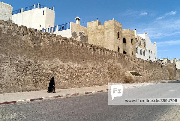 Stadtmauer  Essaouira  Marokko  Afrika