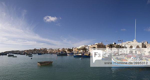 Hafen von Marsaxlokk  Malta  Europa