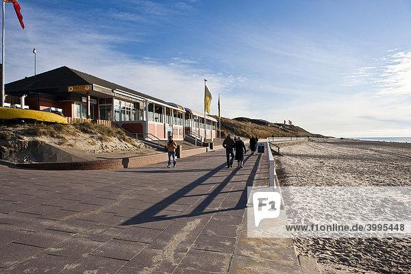 Promenade at Westerland  Sylt Island  North Frisian Islands  Schleswig-Holstein  Germany  Europe