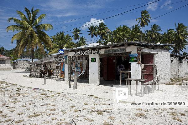 Laden in der Ortschaft Jambiani  Sansibar  Tansania  Afrika