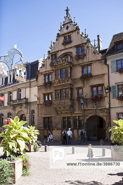 Maison des TÍtes am Place de l'Ancienne Douane - Colmar  Altstadt  Colmar  Elsass  Frankreich  Europa