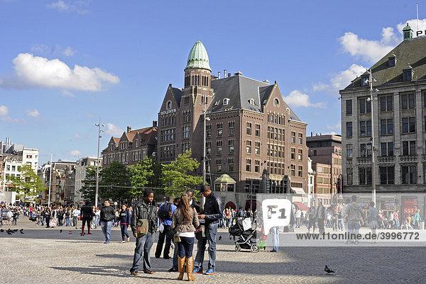 Zentralplatz Amsterdam City  Amsterdam  Niederlande  Europa