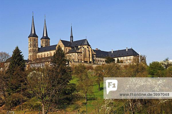Benediktinerabteikirche St.Michael,  Blick vom Rosengarten,  Bamberg,  Oberfranken,  Bayern,  Deutschland,  Europa