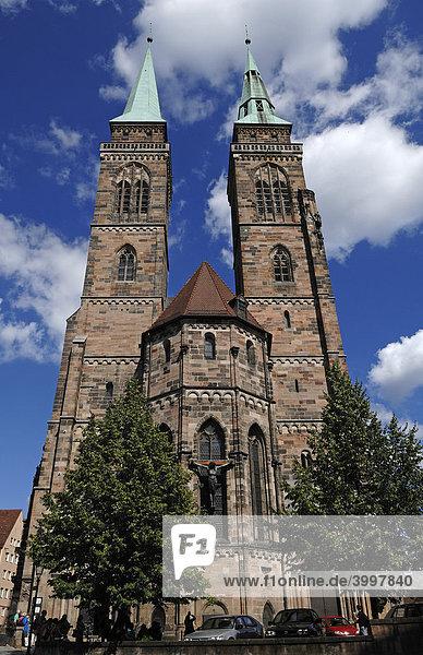 Sebalduskirche church  Gothic  Nuremberg  Middle Franconia  Germany  Europe