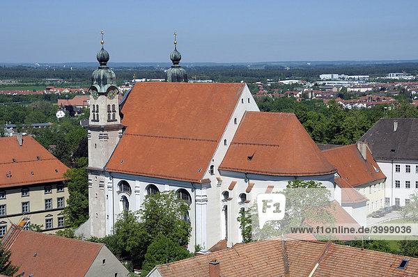 Heiligkreuzkirche church  Landsberg am Lech  Bavaria  Germany  Europe