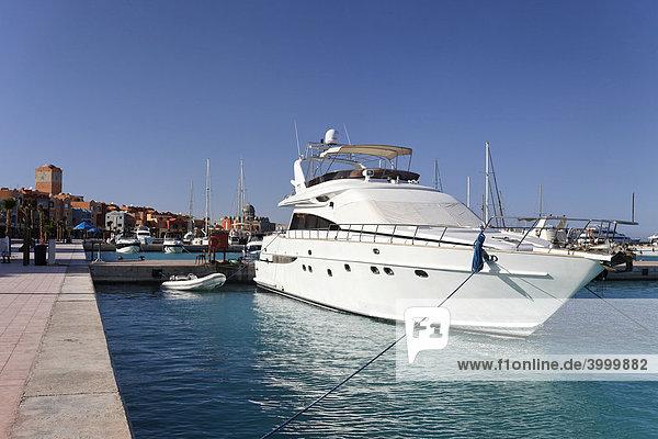 Privatjachten am Jachthafen  Hurghada  Ägypten  Rotes Meer  Afrika