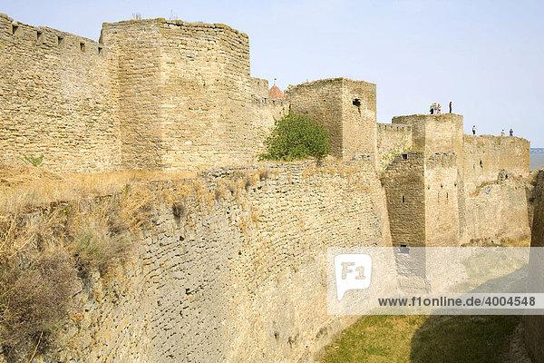 Mauern der Festung Akkerman  in Bilhorod-Dnistrowskyj  Ukraine