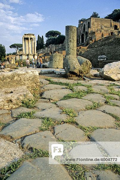 Vesta-Tempel  Augustus-Tempel  Forum Romanum  Rom  Latium  Italien  Europa