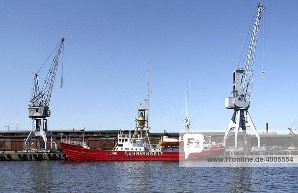 Feuerschiff Fehmarnbelt  Hansestadt Lübeck  Schleswig-Holstein  Deutschland  Europa