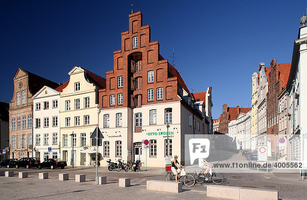 Gable houses  Hanseatic City of Luebeck  Schleswig-Holstein  Germany  Europe