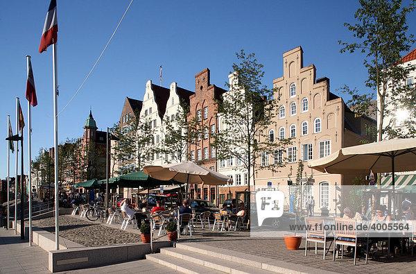 Giebelhäuser  Hansestadt Lübeck  Schleswig-Holstein  Deutschland  Europa