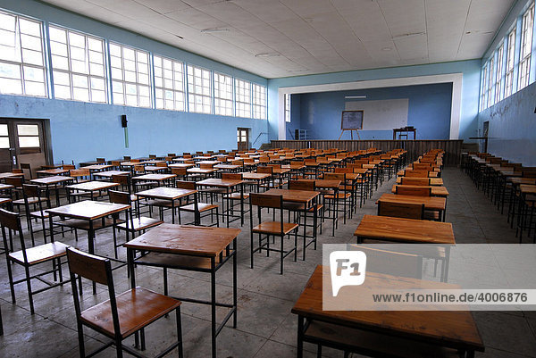 Aula in der Magamba Secondary School  Lushoto  Tansania  Afrika