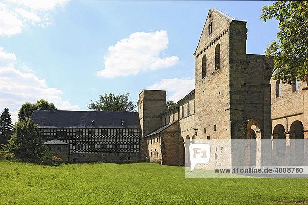 Ehemaliges Benediktinerkloster Paulinzella im Rottenbachtal  Thüringen  Deutschland  Europa