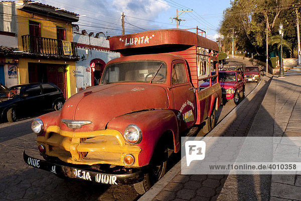 Oldtimer Chevrolet in San Cristobal de las Casas  Chiapas  Mexiko  Zentralamerika