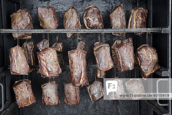 Schweinefleisch Heißräuchern