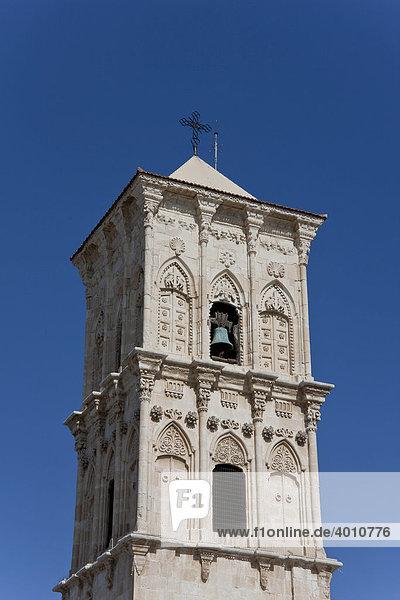 Der Glockenturm der Lazarus-Kirche  Agios Lazaros  Larnaka  auch Larnaca  Südzypern  Zypern  Europa