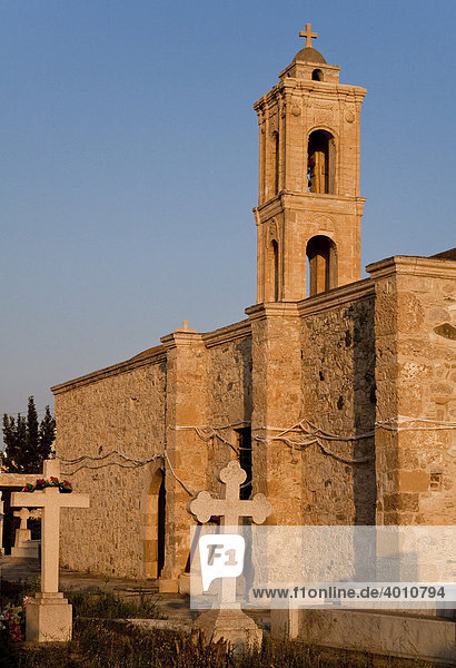 Die Kirche Agiou Leontiou  Pervolia  Zypern  griechischer Teil  Südeuropa  Europa