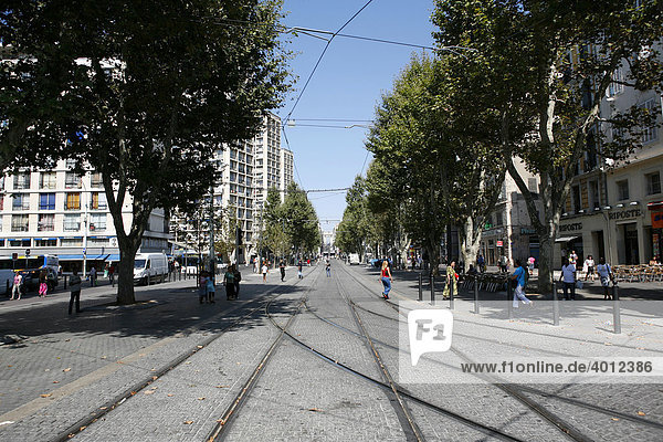 Straßenbild  Marseille  Südfrankreich  Frankreich  Europa